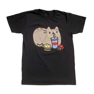 Pusheen The Cat Fast Food Men T-Shirt Sz.-S